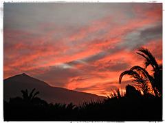 ein farbiger Sonnenuntergang