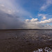 West Kirby beach with Hilbre island in the background