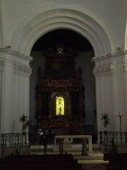Interior of church.