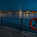 Hamburg - Inner Alster Basin at Night - Binnenalster bei Nacht (195°)