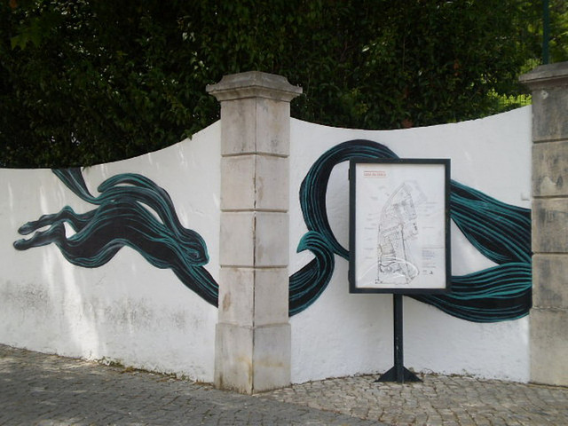 Painting on wall of Cerca House.