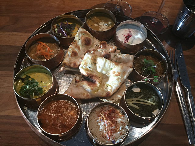 dinner at Babu Ji