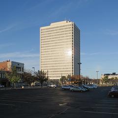 2015 sun onto 1982 building.