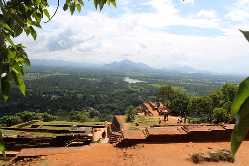 Across the Ruins on Top of Sigiriya