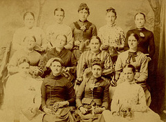Cabinet Card Photo of Quilters, Northern Dauphin County, Pennsylvania, ca. 1880s