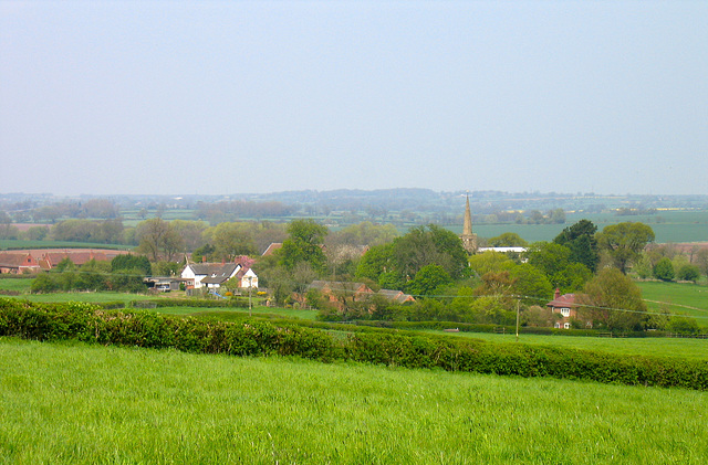 Looking towards Hamstall Ridware