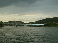 Vor einer Gewitterfront in Koblenz