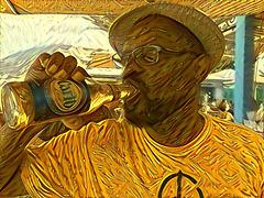 Greg drinking Carib 4
