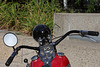 Schicke alte Harley - Detail