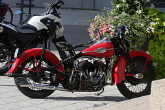 Schicke alte Harley