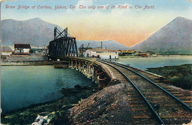 6688. Draw Bridge at Caribou, Yukon, Ter. The only one of its Kind in The North.