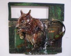 Squirrel, by Bordalo II.