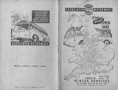 Associated Motorways Winter 1954-55 timetable cover
