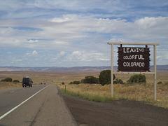 Leaving colorful Colorado and entering Utah