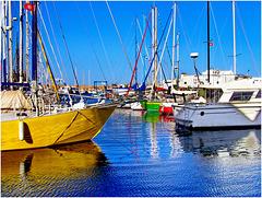 Monastir : tanti colori brillanti al porto turistico 'La marina'