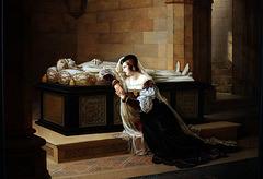 Valentine Visconti pleurant sur le tombeau de Louis d'Orléans