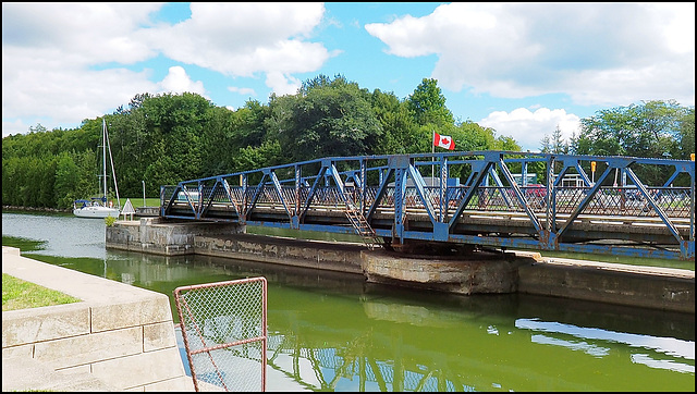 The Murray Canal bridge near Brighton, Ontario.