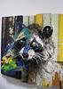 Raccoon in two halves, by Bordalo II.