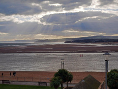 Late afternoon in Exmouth, Devon.