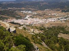 Towering view to Es Mercadal.