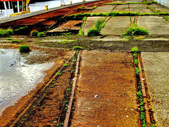 Industrial Remnants. Tracks and Lines
