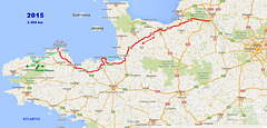 201506,07,08,09 Paris to Bretagne Plougrescant Map