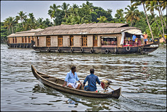 Houseboats sur les backwaters
