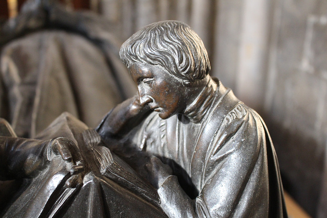 Detail of Monument to John Woodford, Ely Cathedral, Cambridgeshire