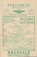 Yelloway and Associated Motorways timetable leaflet 1936