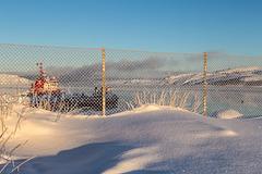 Bøkfjord- behind the fence
