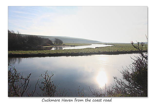 Cuckmere Haven from the A259, coast road in Sussex - 19.1.2016