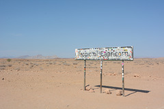 Tropic of Capricorn Sign in the Namib Desert