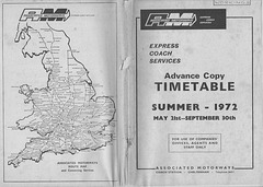 Associated Motorways Summer 1972 timetable cover