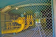 Sicherheitszaun eines Kugelgasbehälters