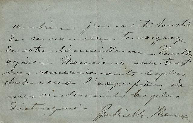 Short note with autograph Gabrielle Krauss (3)