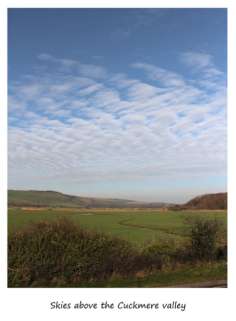 Skies above the Cuckmere Valley - Sussex - 19.1.2016