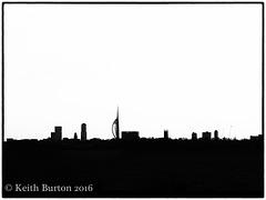 Portsmouth Skyline in silhouette