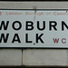 Woburn Walk street sign