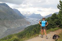 Devant le Glacier d'Aletsch, Valais (Suisse)