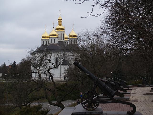 Чернигов, Екатерининская церковь XVIII ст. / Chernigov, The Church of St.Catherine (XVIII century)