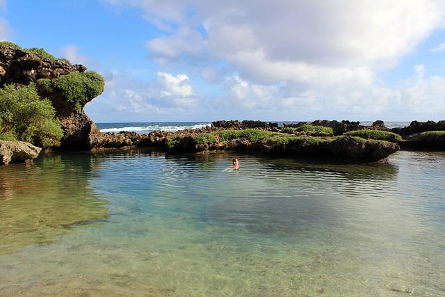 Swimming, Inarajan Natural Pools