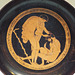 Detail of a Red-Figure Kylix Attributed to Onesimos as Painter with a Drunk Man Vomiting in the Getty Villa, June 2016