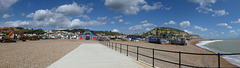The Stade and Hastings RNLI lifeboat station & eastwards 21 9 2018