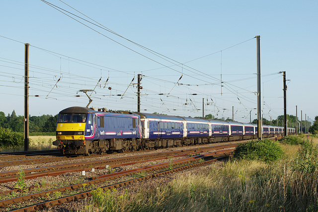 Old Order! 'First Scotrail' Class 90021 - 6.7.15.