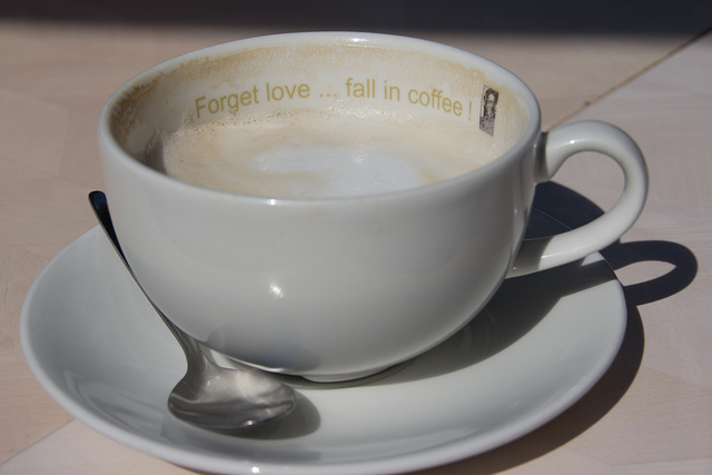 Forget love ... fall in coffee!