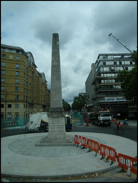 King George's obelisk