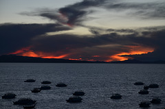 Bolivia, Sunset over the Lake of Titicaca