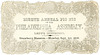 Lady's Invitation, Eighth Annual Picnic of the Philadelphia Assembly, Strawberry Mansion, Philadelphia, Pa., Sept. 1, 1856
