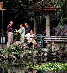 Angler and admirers, People's Park