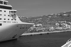 Arriving at Mykonos